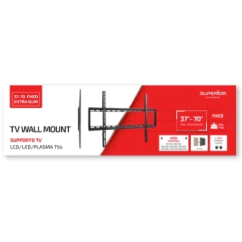 SUPPORTO TV IN ACCIAIO 37-70 FIXED EXTRA SLIM - SUPERIOR